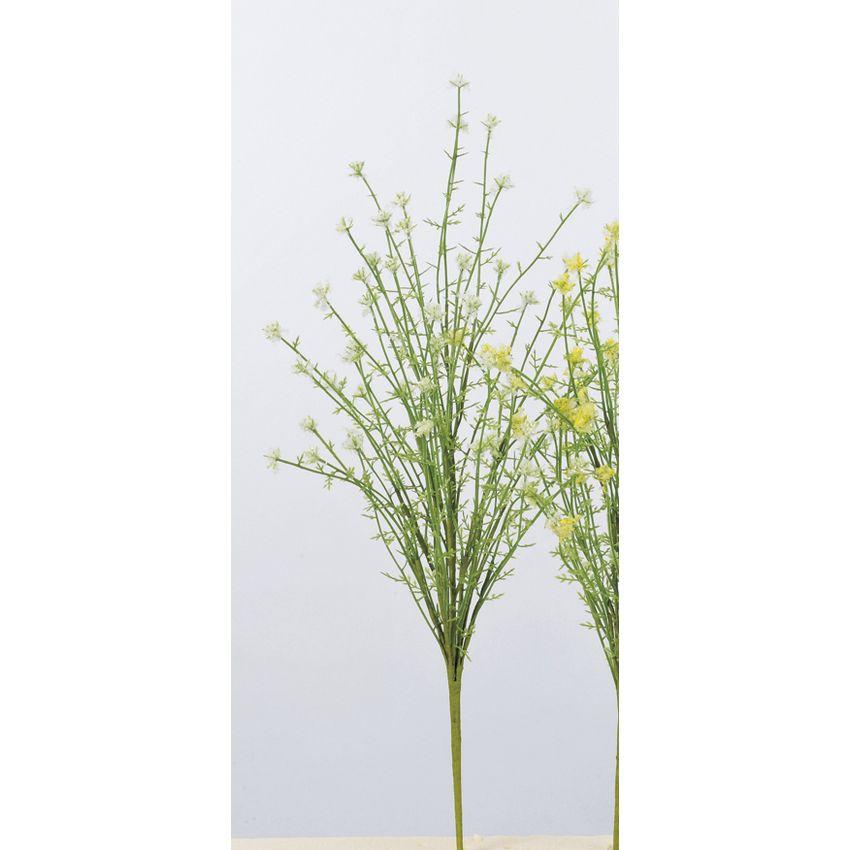 【造花】アスカ/ミニフラワーブッシュ #001 ホワイト/A-33588-001【01】【01】【取寄】《 造花(アーティフィシャルフラワー) 造花 花材「は行」 その他「は行」造花花材 》