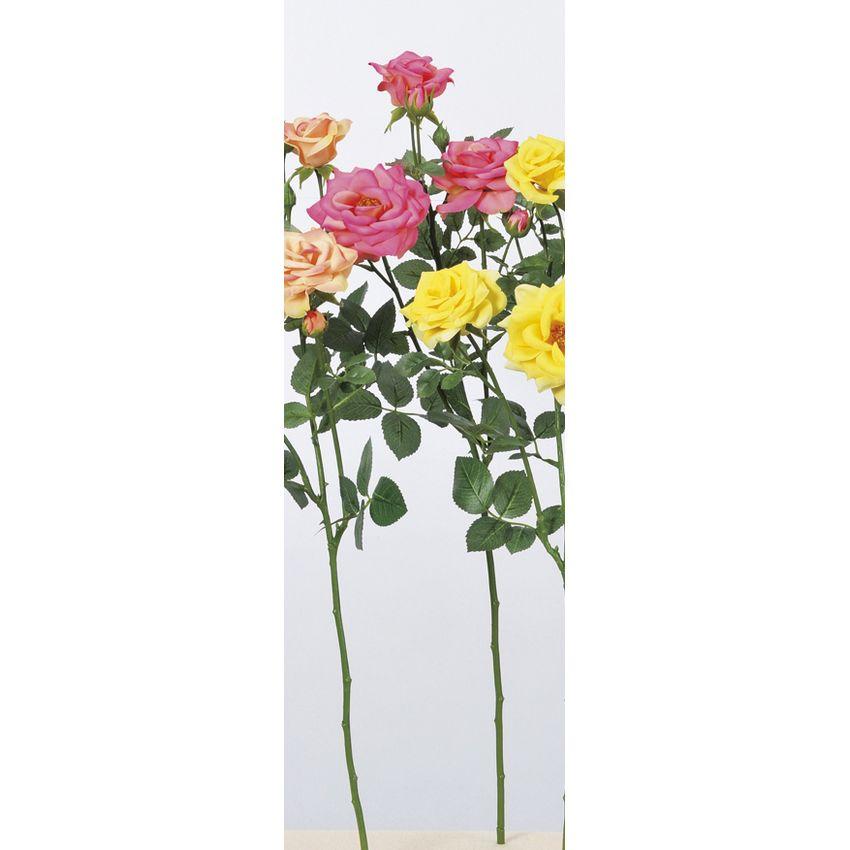 【造花】アスカ/ファリネローズ×3 つぼみ×4 #005 ローズ/A-33605-005【01】【01】【取寄】《 造花(アーティフィシャルフラワー) 造花 花材「は行」 バラ 》