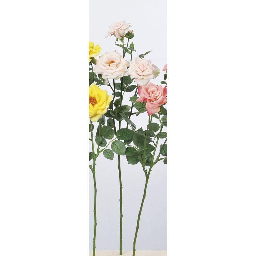 【造花】アスカ/ファリネローズ×3 つぼみ×4 #013 ライトピンク/A-33605-013【01】【01】【取寄】《 造花(アーティフィシャルフラワー) 造花 花材「は行」 バラ 》
