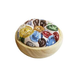NBK/ウッドボウルピンクッションキット ボタン柄/WOOD-B【01】【取寄】手芸用品 ツール 洋裁パッチワーク用品 手作り 材料