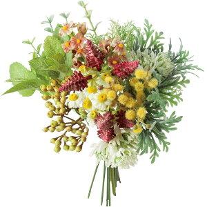【造花】YDM/ハーブグリーンミックスバンドル レッド/FB-2519-R【01】【取寄】造花(アーティフィシャルフラワー) 造花葉物、フェイクグリーン ハーブ 手作り 材料