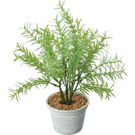 【人工観葉植物】YDM/ローズマリーポット グレー/GLA-1494-GRY【01】【取寄】