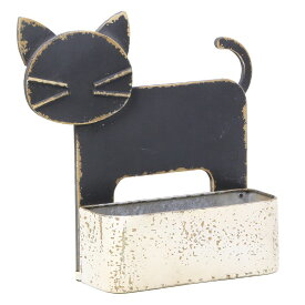 創元舎/アニマルブリキポット黒猫/712-002K【01】【取寄】