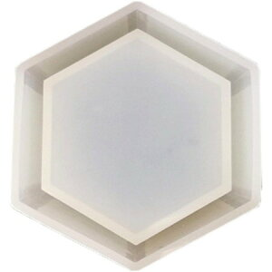 即日 そらプリ/シリコンモールド コースター六角大/sm084 固まるハーバリウム シリコン型 手作り 材料