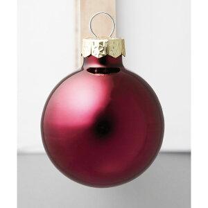 ガラスボールΦ35 ワインレッ KC35163/BU#1 2シュX8コ/25-2042-87【01】【取寄】店舗ディスプレイ クリスマス飾り ボールオーナメント 手作り 材料
