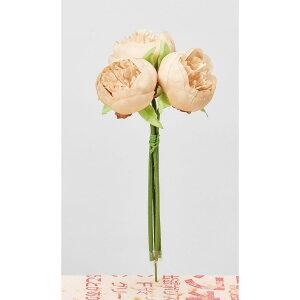 【造花】アスカ/ピオニーバンチ #008A ソフトベージュ/A-34016-8A【01】【取寄】造花(アーティフィシャルフラワー) 造花 花材「さ行」 シャクヤク(芍薬)・ボタン(牡丹)・ピオニー 手作り