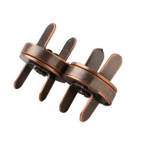NBK/足折マグネットボタン(差し込み) 14mm ダークブラウン 2組入/SM11-DB【07】【取寄】 手芸用品 持ち手・金具 マグネットボタン 手作り 材料