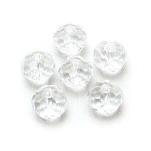 エルベール/ガラスボタンカット10mm クリスタル 約6個/BJ-509【07】【取寄】[3袋] 手芸用品 アクセサリー ビーズ 手作り 材料