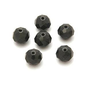 エルベール/ガラスボタンカット10mm ブラック 約6個/BJ-513【07】【取寄】[3袋] 手芸用品 アクセサリー ビーズ 手作り 材料