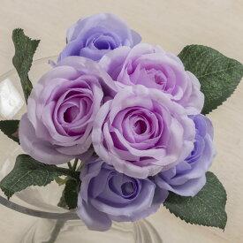 即日 【造花】YDM/ローズブッシュ*6 ラベンダーピンク/FB2306-LAP《 造花(アーティフィシャルフラワー) 造花 花材「は行」 バラ 》