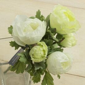 即日 【造花】YDM/ラナンキュラスブッシュ グリーンホワイト/FB2307-G/W