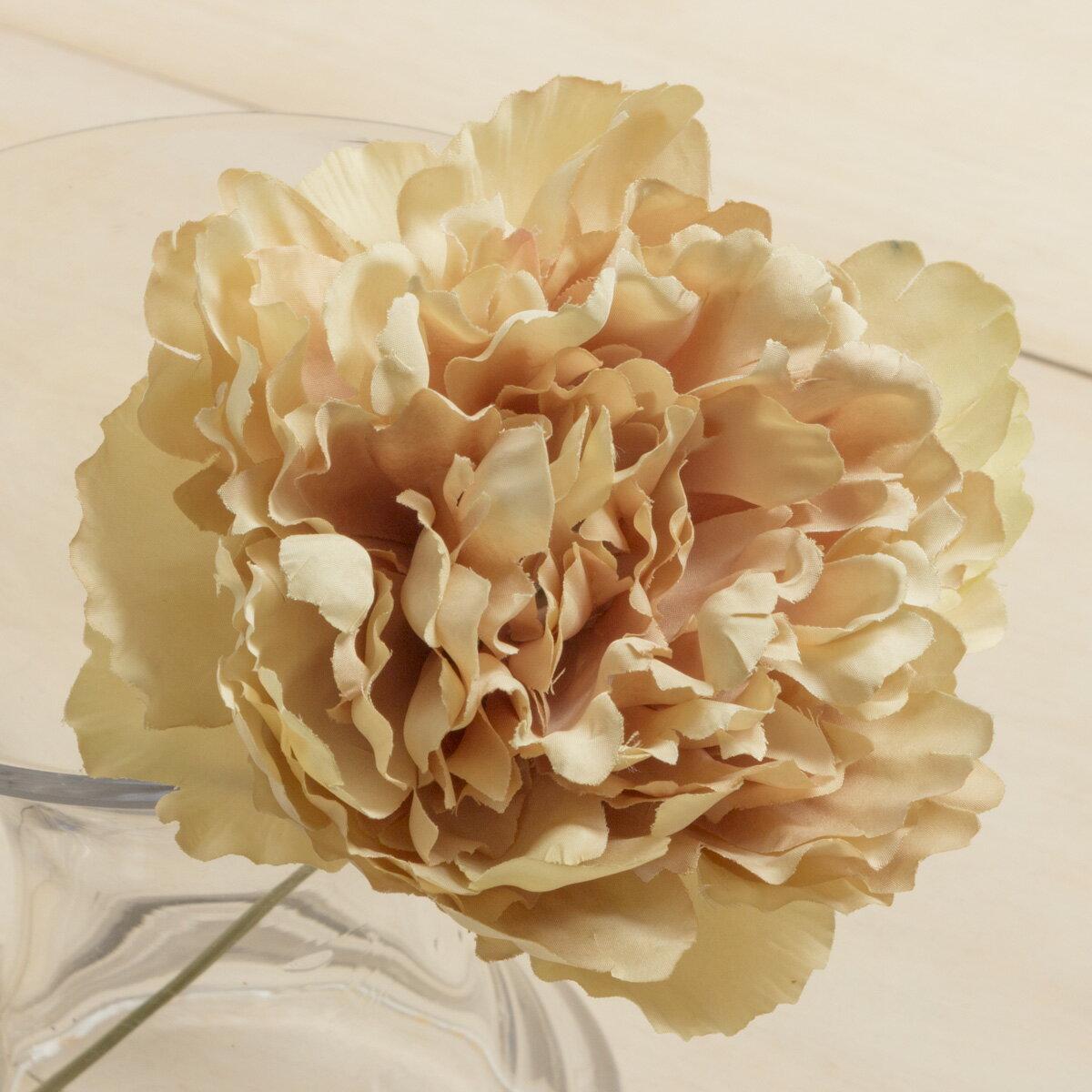 即日 【造花】YDM/ピオニーピック ベージュ/FA6755-BE《 造花(アーティフィシャルフラワー) 造花 花材「さ行」 シャクヤク(芍薬)・ボタン(牡丹)・ピオニー 》