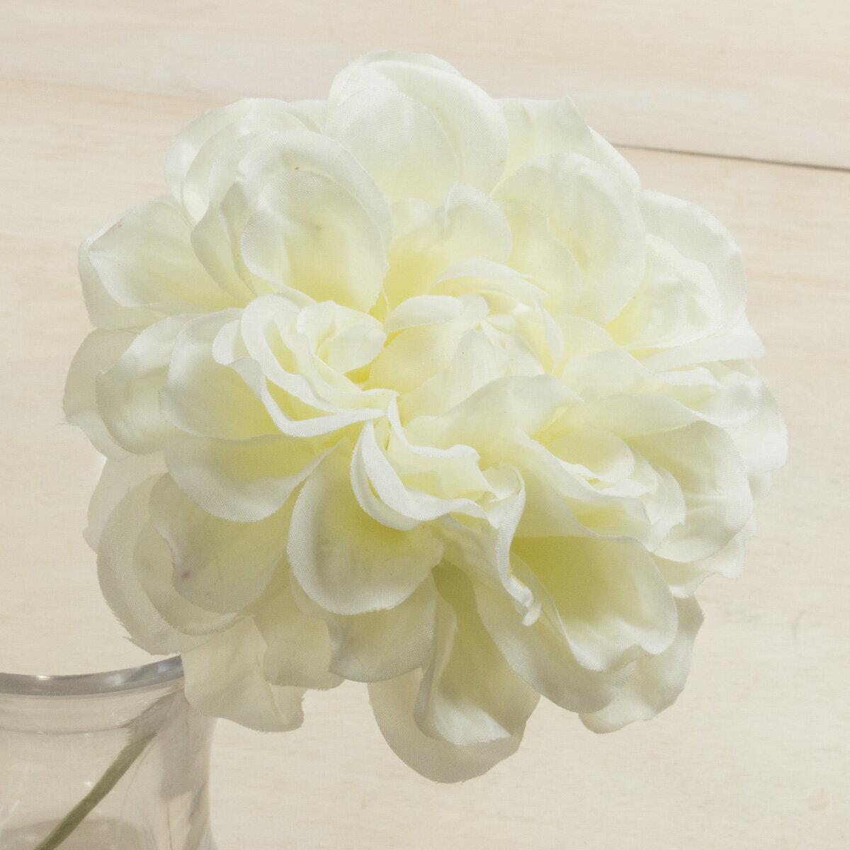 即日★【造花】YDM/ダリアピック ホワイト/FA6756-W《 造花(アーティフィシャルフラワー) 造花 花材「た行」 ダリア 》