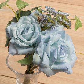即日 【造花】YDM/ローズディルブーケ ブルー/FB2341-BLU《 造花(アーティフィシャルフラワー) 造花 花材「は行」 バラ 》