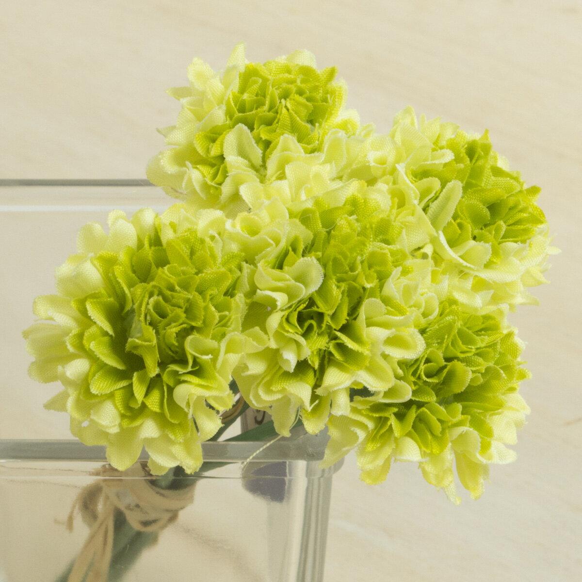 即日 【造花】YDM/ミニピンポンマムピック/FB2346-GR《 造花(アーティフィシャルフラワー) 造花 花材「か行」 キク(菊)・ピンポンマム 》