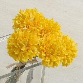 即日 【造花】YDM/ミニピンポンマムピック/FB2346-Y《 造花(アーティフィシャルフラワー) 造花 花材「か行」 キク(菊)・ピンポンマム 》