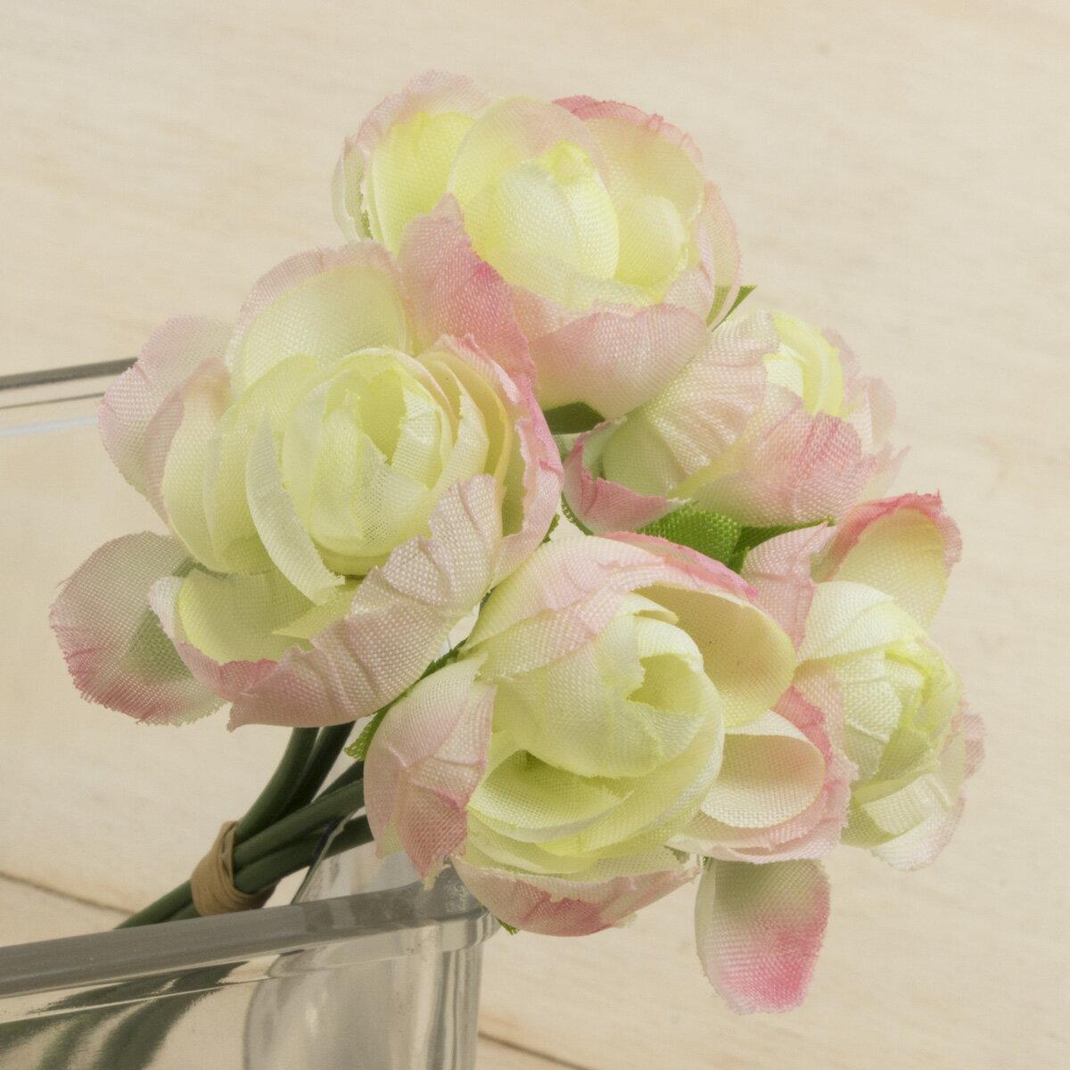 大特価 即日 【造花】YDM/ミニラナンキュラスバンドル ライトピンク/FB2409-L/P《 造花(アーティフィシャルフラワー) 造花 花材「ら行」 ラナンキュラス 》