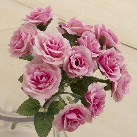 即日 【造花】YDM/ミニローズブッシュ ピンク/FB2439-P《 造花(アーティフィシャルフラワー) 造花 花材「は行」 バラ 》