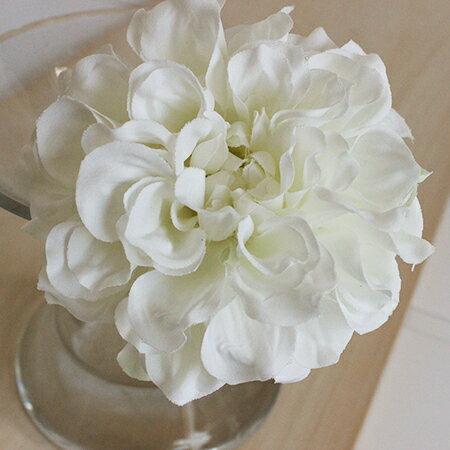 即日★【造花】アスカ/ダリアピック ホワイト/A-31451-1《 造花(アーティフィシャルフラワー) 造花 花材「た行」 ダリア 》