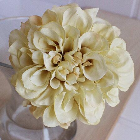 即日 【造花】アスカ/ダリアピック クリームホワイト/A-31451-11《 造花(アーティフィシャルフラワー) 造花 花材「た行」 ダリア 》