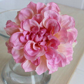 即日 【造花】アスカ/ダリアピック クリームピンク/A-31451-3C《 造花(アーティフィシャルフラワー) 造花 花材「た行」 ダリア 》