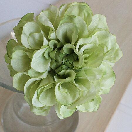 即日★【造花】アスカ/ダリアピック ホワイトグリーン/A-31451-52《 造花(アーティフィシャルフラワー) 造花 花材「た行」 ダリア 》