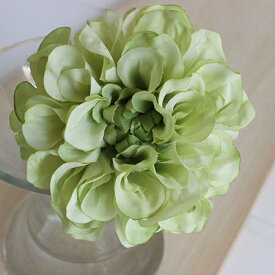 即日 【造花】アスカ/ダリアピック ホワイトグリーン/A-31451-52《 造花(アーティフィシャルフラワー) 造花 花材「た行」 ダリア 》