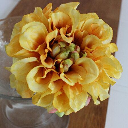 即日 【造花】アスカ/ダリアピック イエロー/A-31451-10《 造花(アーティフィシャルフラワー) 造花 花材「た行」 ダリア 》
