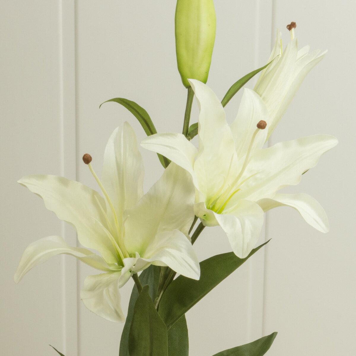 即日★【造花】YDM/カサブランカ×2/FA6215-W《 造花(アーティフィシャルフラワー) 造花 花材「か行」 カサブランカ 》