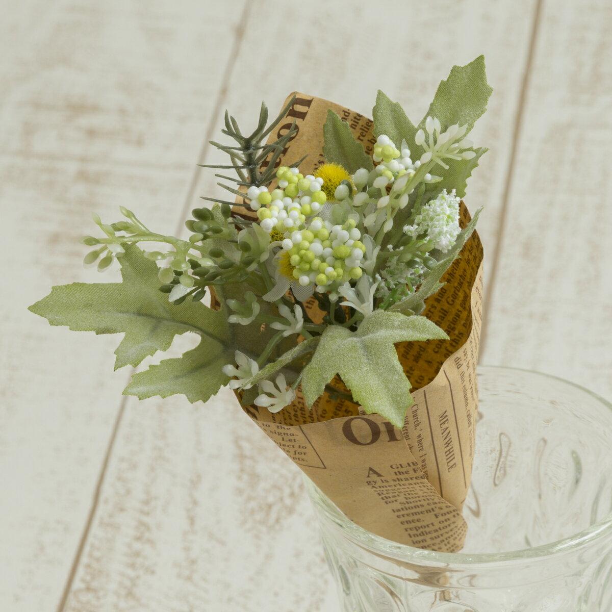 大特価 即日 【造花】YDM/フィンガーカモミールブーケ ホワイト/FBC8040-W《 造花(アーティフィシャルフラワー) 造花葉物、フェイクグリーン ハーブ 》