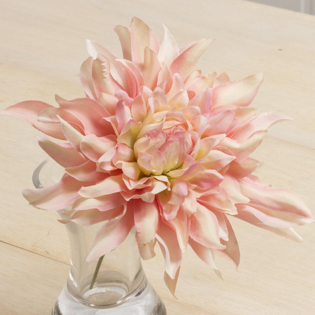 即日 【造花】YDM/ジュリーダリアピック クリームピンク/FA6919-CRP《 造花(アーティフィシャルフラワー) 造花 花材「た行」 ダリア 》