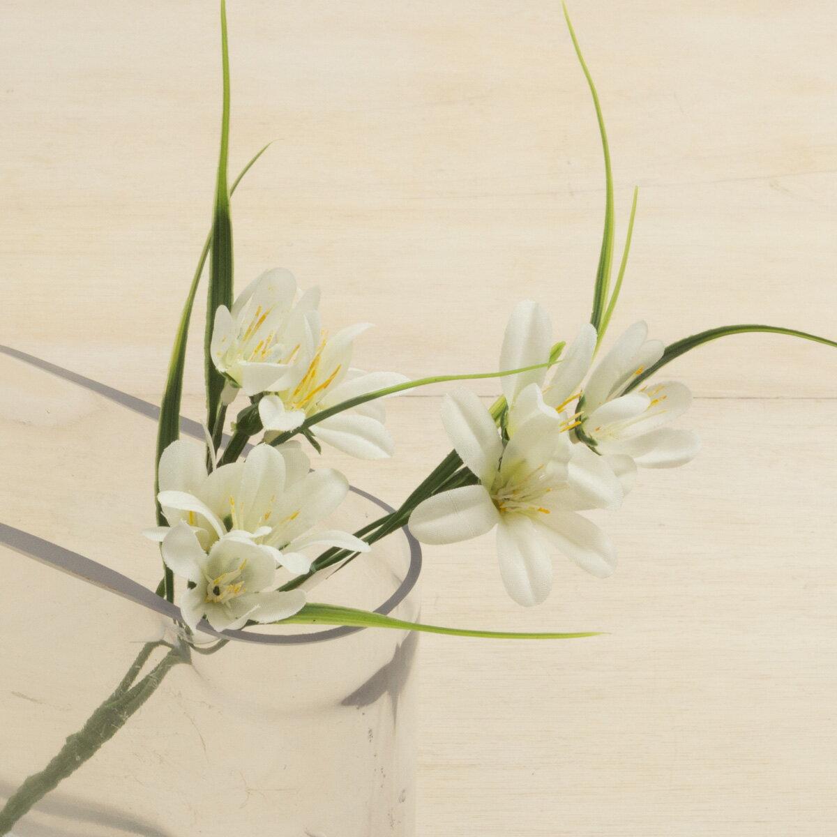 大特価◎【造花】YDM/ミニリリーブッシュ ホワイト/FB2426-W《 造花(アーティフィシャルフラワー) 造花 花材「や行」 ユリ(百合)・リリー 》