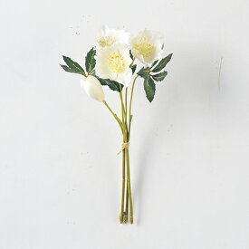 即日 【造花】アスカ/A-36144クリスマスローズバンチX4(1束3本)#001ホワイト/A-36144-001《 造花(アーティフィシャルフラワー) 造花 花材「か行」 クリスマスローズ 》