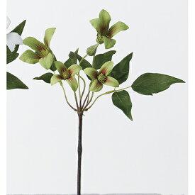 【造花】アスカ/A-32467 ミニクレマチスX4 つぼみX2 #051G グリ−ンレッド/A-32467-051G【01】【01】【取寄】《 造花(アーティフィシャルフラワー) 造花 花材「か行」 クレマチス 》