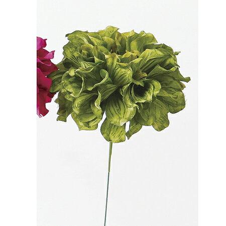 即日 【造花】アスカ/ダリアピック NO.051A グリ−ン/A-31451《 造花(アーティフィシャルフラワー) 造花 花材「た行」 ダリア 》