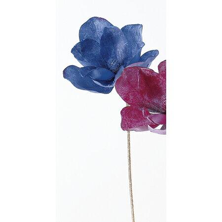 【造花】アスカ/マグノリア #009 ブル−/AX68374【01】【01】【取寄】[12本]《 造花(アーティフィシャルフラワー) 造花 花材「ま行」 モクレン(木蓮)・マグノリア 》