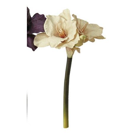 【造花】アスカ/アマリリス×2 つぼみ×1 NO.008 ベ−ジュ/AX68451【01】【取寄】《 造花(アーティフィシャルフラワー) 造花 花材「あ行」 アマリリス 》