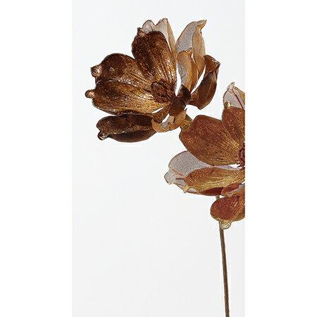 【造花】アスカ/マグノリア #028 ブラウン/AX68401【01】【01】【取寄】[12本]《 造花(アーティフィシャルフラワー) 造花 花材「ま行」 モクレン(木蓮)・マグノリア 》