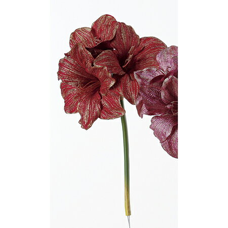 【造花】アスカ/アマリリス×3 NO.002 レッド/AX68350【01】【取寄】《 造花(アーティフィシャルフラワー) 造花 花材「あ行」 アマリリス 》