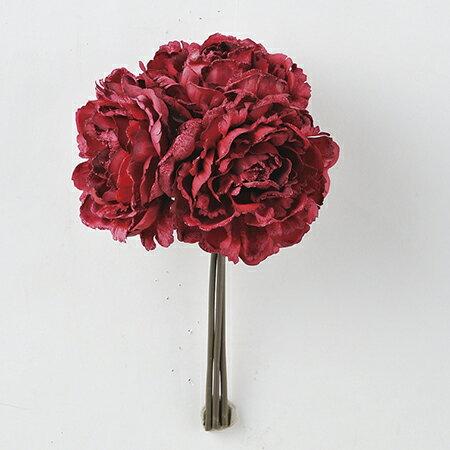 【造花】アスカ/ピオニー (1束3本) #005M マゼンタ/AX68417【01】|芍薬・牡丹【01】【01】【取寄】《 造花(アーティフィシャルフラワー) 造花 花材「さ行」 シャクヤク(芍薬)・ボタン(牡丹)・ピオニー 》