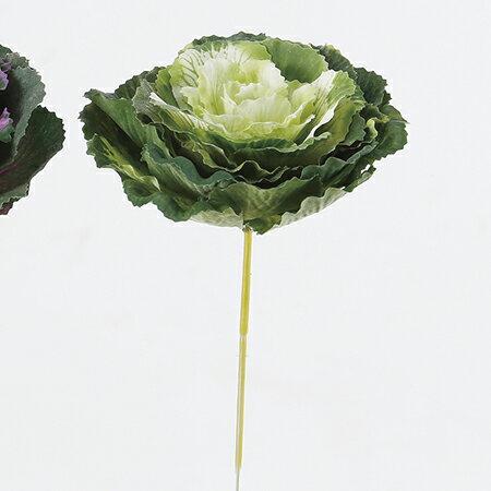 【造花】アスカ/ミニ葉ぼたん NO.053A クリームグリーン/A-73252【01】【取寄】《 造花(アーティフィシャルフラワー) 造花 花材「は行」 ハボタン(葉牡丹) 》