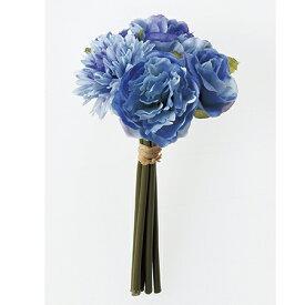 即日 【造花】アスカ/ミックスフラワーブーケ ブルー/A-32389-9《 造花(アーティフィシャルフラワー) 造花 花材「ま行」 その他「ま行」造花花材 》