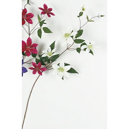 【造花】アスカ/クレマチス×4 つぼみ×2 クリームグリーン/A-32466-53A【01】【取寄】《 造花(アーティフィシャルフラワー) 造花 花材「か行」 クレマチス 》