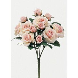 即日 【造花】アスカ/ミニローズブッシュ×12 ピンク/A-31446-3《 造花(アーティフィシャルフラワー) 造花 花材「は行」 バラ 》