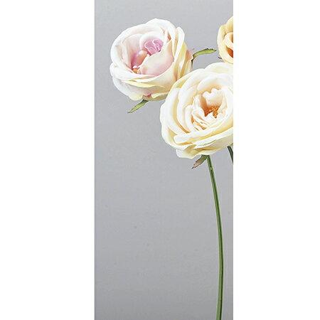 即日 【造花】アスカ/サブリナローズ ホワイトピンク/A-31910-1P《 造花(アーティフィシャルフラワー) 造花 花材「は行」 バラ 》