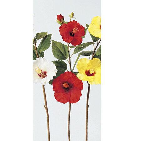 【造花】アスカ/ハイビスカス×2 つぼみ×2 レッド/A-31858-2【01】【取寄】《 造花(アーティフィシャルフラワー) 造花 花材「は行」 ハイビスカス 》