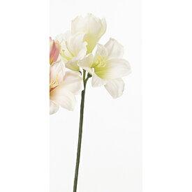 【造花】アスカ/アマリリス×3 クリームホワイト/A-32174-11【01】【01】【取寄】《 造花(アーティフィシャルフラワー) 造花 花材「あ行」 アマリリス 》