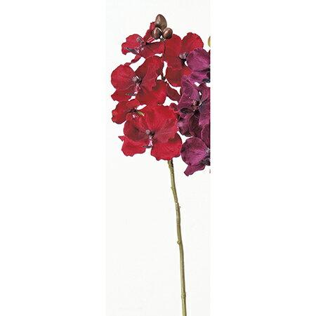 【造花】アスカ/ベルベットバンダオーキッド×6 つぼみ×3 レッド/A-32308-2【01】【取寄】《 造花(アーティフィシャルフラワー) 造花 花材「ら行」 ラン(蘭)・オーキッド 》