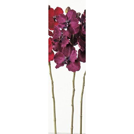【造花】アスカ/ベルベットバンダオーキッド×6 つぼみ×3 パープル/A-32308-7【01】【01】【取寄】《 造花(アーティフィシャルフラワー) 造花 花材「ら行」 ラン(蘭)・オーキッド 》