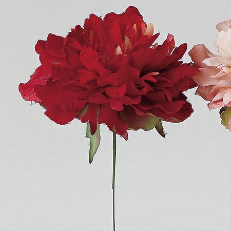 即日 【造花】アスカ/ピオニーピック #002B ライトレッド/A-32276-002B《 造花(アーティフィシャルフラワー) 造花 花材「さ行」 シャクヤク(芍薬)・ボタン(牡丹)・ピオニー 》